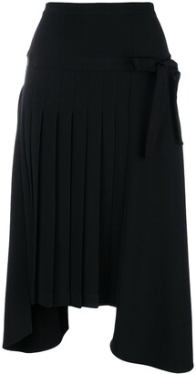 Ermanno Scervino Pleated Uneven Hem Skirt