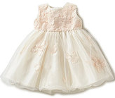 Joan Calabrese Baby Girls 6-24 Months Taffeta Floral-Applique Dress