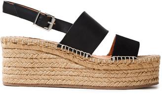 Rag & Bone Edie Leather And Suede Espadrille Wedge Sandals