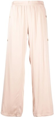 Áeron Side-Buttoned Gathered Trousers