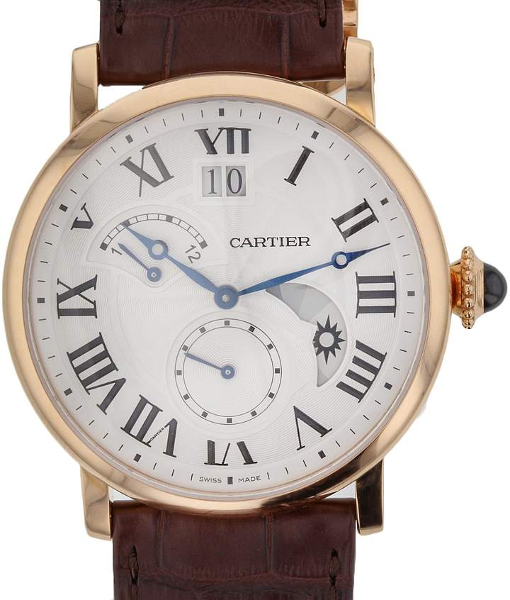 Cartier Rotonde Silvered Guilloche Dial Men's Watch