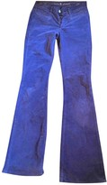 MiH Jeans Grey Cotton Trousers for Women