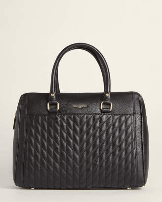 Karl Lagerfeld Paris Agyness Quilted Leather Satchel