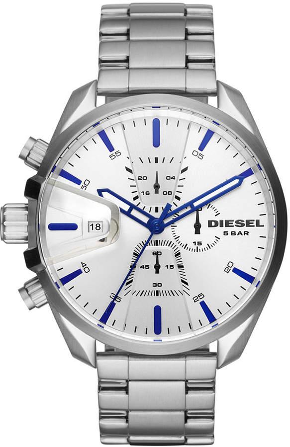 Diesel Men's Chronograph MS9 Chrono Stainless Steel Bracelet Watch 47mm