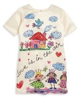 Halabaloo Toddler's & Little Girl's Drawing Graphic Dress