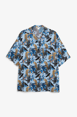 Monki Open collar blouse