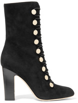 Jimmy Choo Malta Suede Boots - Black