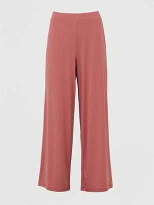 Very Co Ord Wide Leg Trouser - Dark Pink