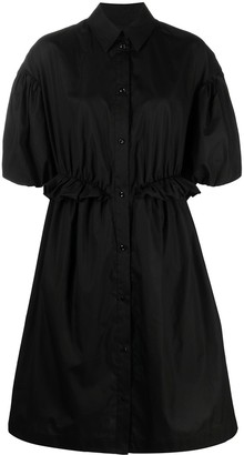 Simone Rocha Ruffled Puff-Sleeve Shirtdress