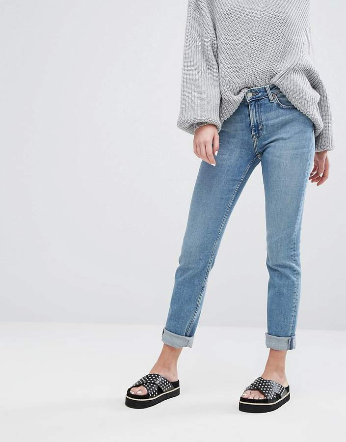 Weekday Way Mid Rise Stretch Straight Leg Jeans