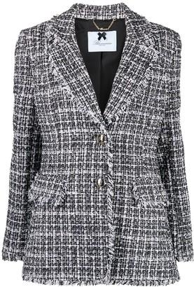 Blumarine Tweed Single-Breasted Blazer