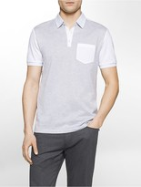 Calvin Klein Slim Fit Colorblock Mercerized Polo Shirt