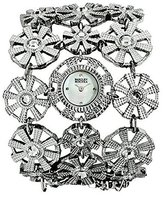 Badgley Mischka Women's BA1147MPSV Swarovski Crystal Accented Silver-Tone Bracelet Watch