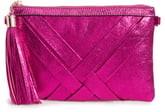Malibu Skye Metallic Woven Faux Leather Shoulder Bag