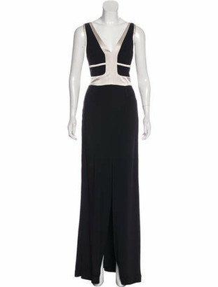 Narciso Rodriguez V-Neck Sleeveless Gown Black