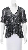 Parker Silk Embellished Top w/ Tags