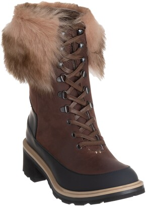 Ross & Snow Chiara Genuine Shearling Cuff Leather Boot