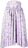 Olympia Le-Tan mid-length printed skirt - women - Polyester - 36