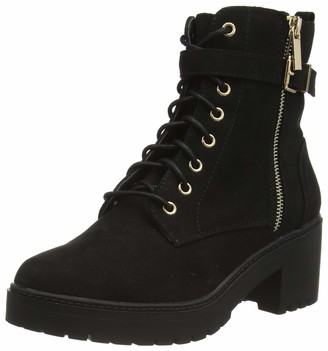 Dorothy Perkins Women's Black Manta Side Zip Lace Up Ankle Boots 3 UK