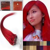 Hope 22'' Straight Loops Micro Ring Beads Tipped Human Hair Extenions 100S Red Women Beauty Hairsalon Style Design 0.5g/s