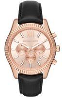 Michael Kors Lexington Stainless Steel Chronograph Strap Watch
