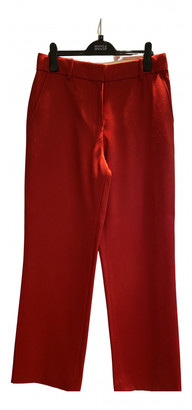 Sies Marjan Red Wool Trousers