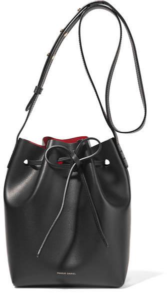 Mansur Gavriel Mini Leather Bucket Bag - Black