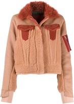 Cara Mila Ally shearling bomber jacket