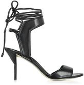 3.1 Phillip Lim Martini Black Leather Ankle Lace Mid Heel Sandal