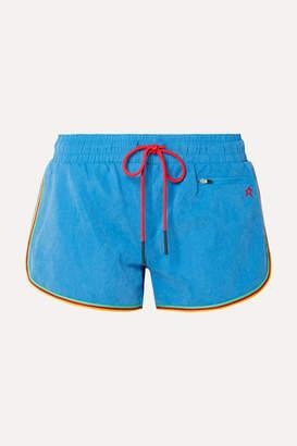 Perfect Moment Rainbow Brushed-shell Shorts - Light blue