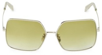Celine 60MM Square Metal Sunglasses