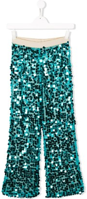 La Stupenderia Sequinned Wide Leg Trousers