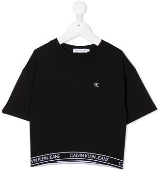 Calvin Klein Kids logo strap T-shirt