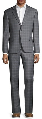 Tommy Hilfiger Lowen Stretch-Fit Plaid Wool-Blend Suit