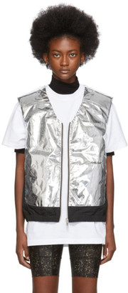 Ambush Silver and Black Padded Vest