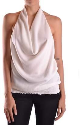 Patrizia Pepe Women's White Silk Top