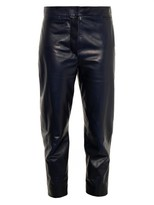 Alexander McQueen Cropped leather trousers