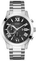 GUESS GUESS? Men's ATLAS 44mm Steel Bracelet & Case Quartz Dial Chronograph Watch W0668G3