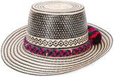 Yosuzi Adina Lunar Diety pom pom hat - women - Cotton/Straw - M