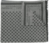 Emporio Armani checked scarf - men - Modal/Virgin Wool - One Size
