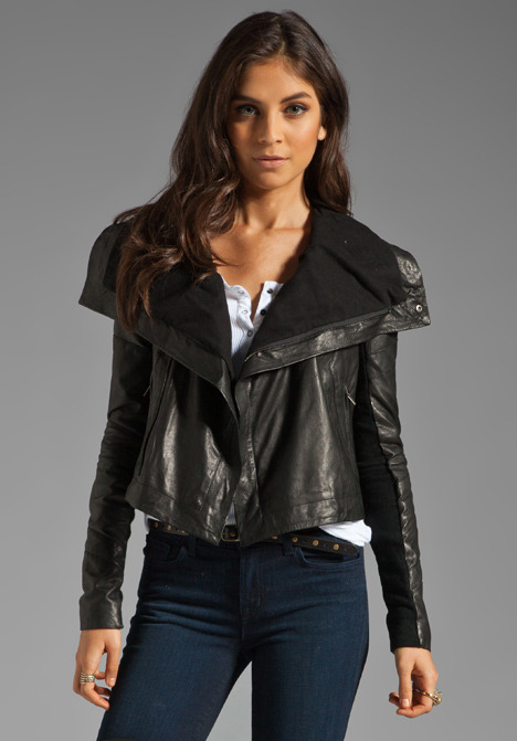 Veda Max Seamed Leather Jacket
