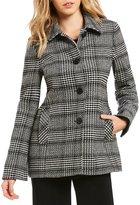 Preston & York Classic Plaid Wool Barn Coat