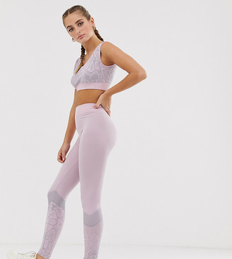 South Beach snake print seamless leggings in pink