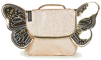 Caramel   Cie CARAMEL CIE BUTTERFLY BAG GLITTERS girls's Backpack in Gold