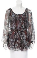 Catherine Malandrino Silk Printed Top w/ Tags