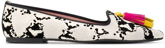 Pretty Ballerinas Ella snake-print ballerina shoes