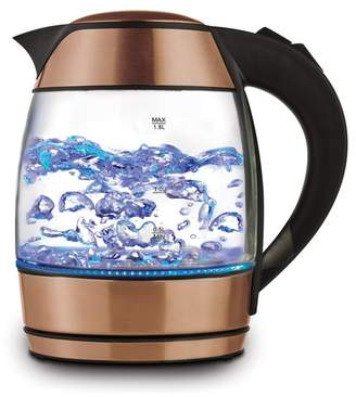 BRENTWOOD ORIGINALS Rose Gold 1.8L Cordless Glass Electric Kettle with Tea Infuser
