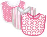 Trend Lab 3-Pack Lilly Bib Set in Pink