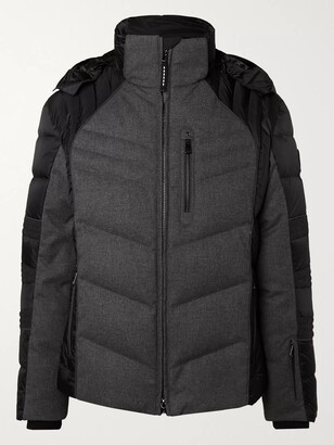 Bogner Bruce-D Quilted Panelled Virgin Wool-Blend And Shell Down Ski Jacket
