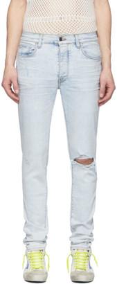 Amiri Blue Broken Jeans